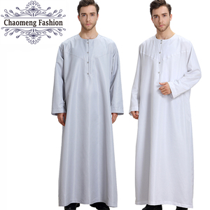 808# Full length Middle East Islamic Muslim Clothing Muslim Buttons Jubah Dubai Arabian kaftan Mens Thobe