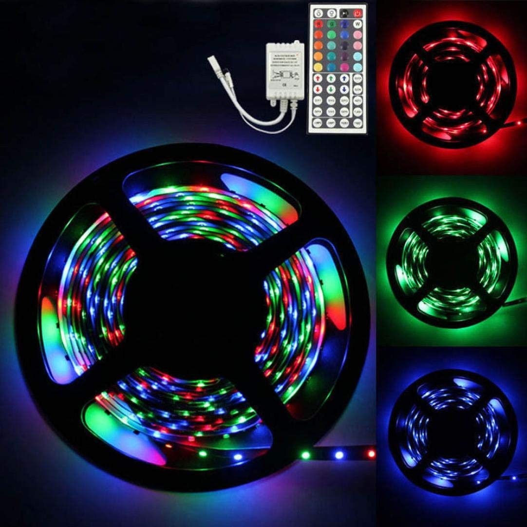 Gbell LED SMD Flexible Light Strip Lamp 5M RGB 3528 300 +44 key IR Remote Controller for Car Decoration, Home Decoration, Lighting, Signs, Advertising Signs, Wine, Jewelry Cabinets Decor