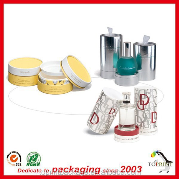 White paper tube packaging cosmetic perfume bottle paper box packaging cylinder cardboard toner packaging tube