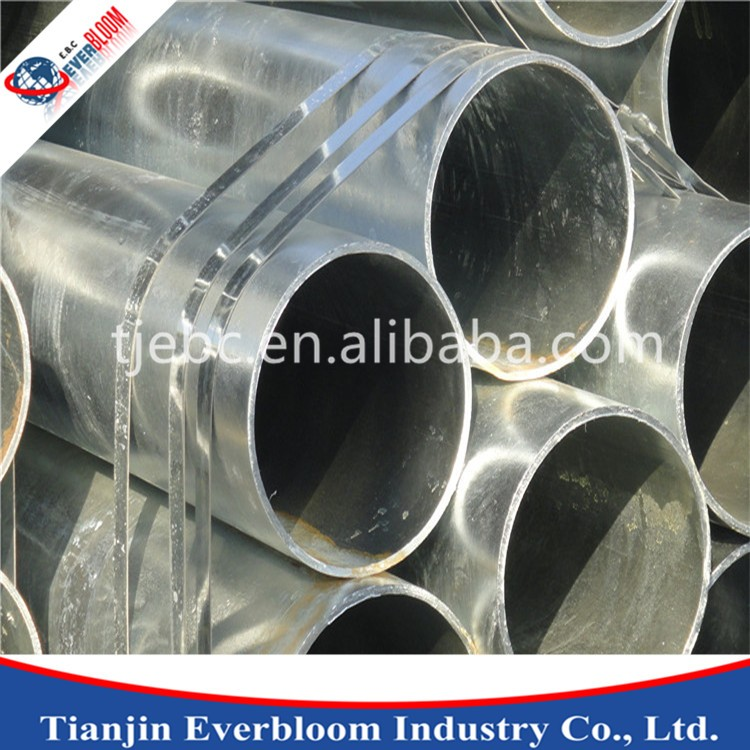 High qulity electro galvanized/4 inch pipe with end caps for gas pipe for sale