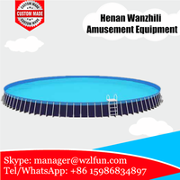 Island Floating Frame High Quality Customized Inflatable Pool