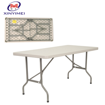 Hot sale party event dining white HDPE folding blow mould table