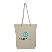 custom logo twist cotton handle natural cotton canvas beach tote bag with eyelets