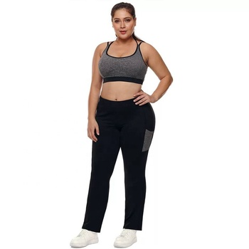 women long yoga pants plus size ,no see through soft gym leggings plus size