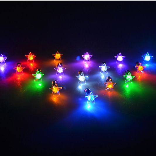 (Top) 2019 Top Fashion Stainless Steel Little Star Earrings Glowing Light up Dance Party LED Christmas Earrings Lighted