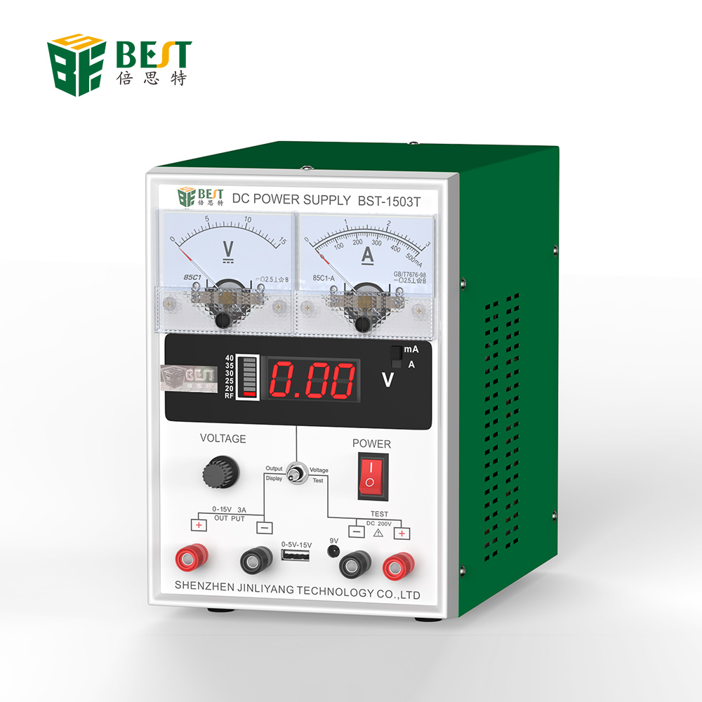 BEST 1503T Short Time Delivery Logo Customized 110V/220V Variable electrolysis ac Dc Power <strong>Supply</strong> for phone repair