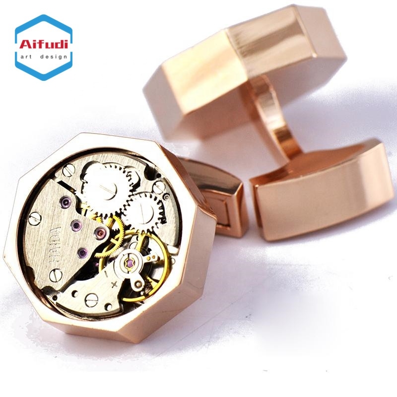 high quality <strong>custom</strong> logo <strong>engraved</strong> blanks watch movement <strong>cufflink</strong>
