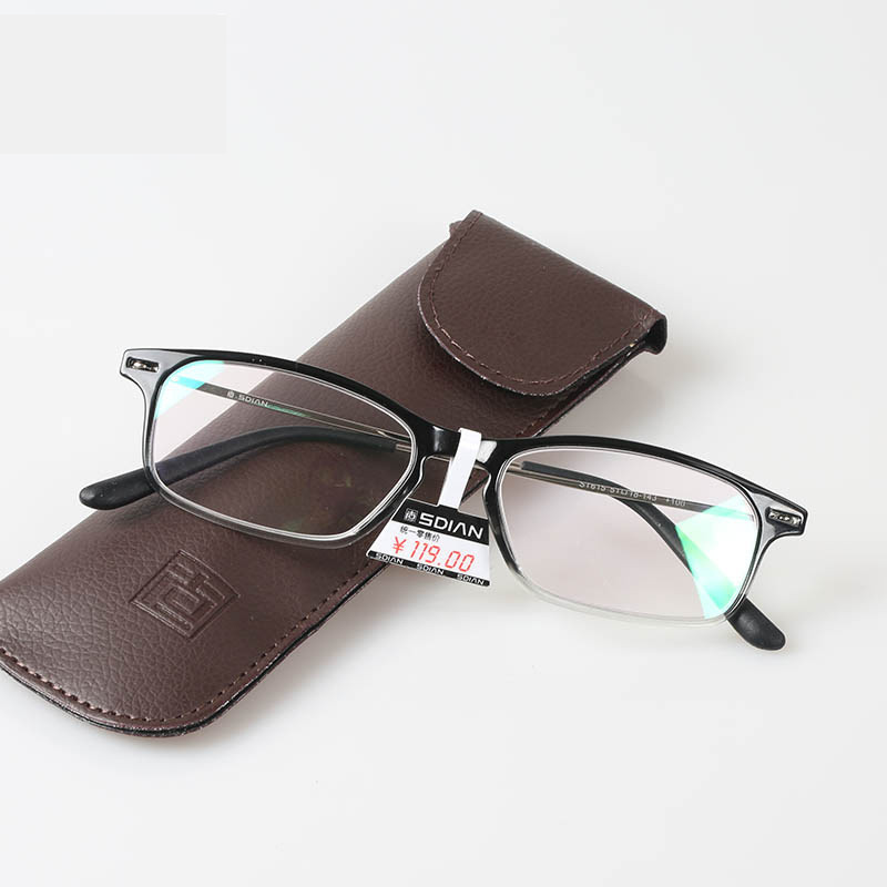 27fd11cf62d Ultra Thin Reader Glasses Women and Men Slim Reading Glasses with Leather  Case