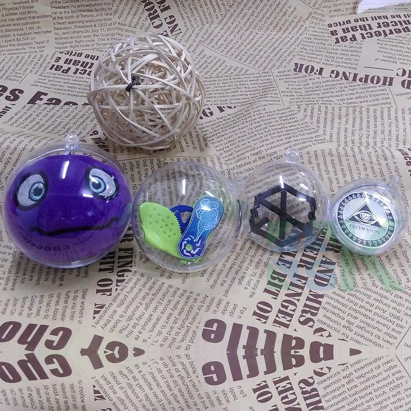Bulk Christmas Ornaments Balls: Cheap Chic 10pcs/lot Transparent Christmas Ball Ornaments
