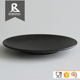 Round plastic black fancy charge french tableware for wholesale
