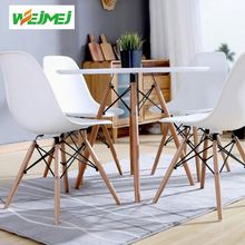 European Marble Wooden Dining Table Set