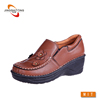 China casual lady handmade comfort chappal leather shoes