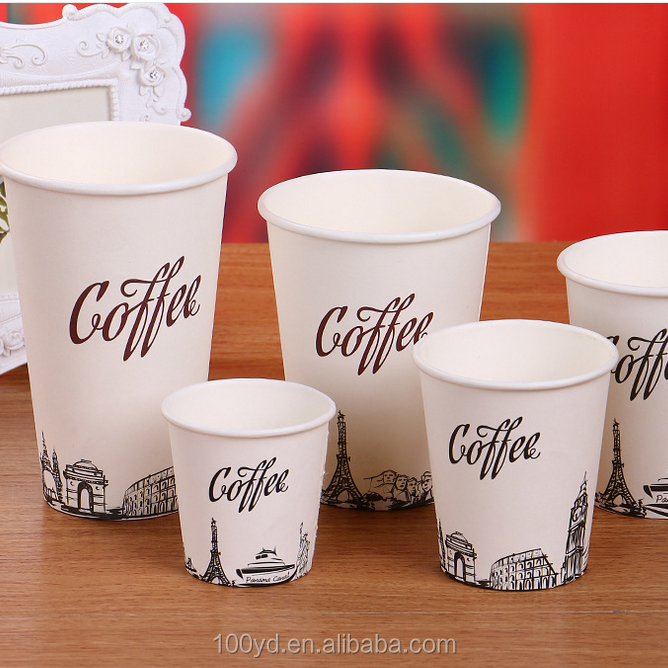 Customized surface wholesale disposable paper cup