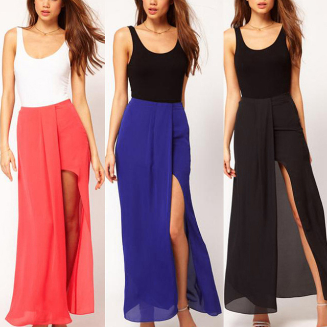 maxi skirt split-Source quality maxi skirt split from Global maxi ...