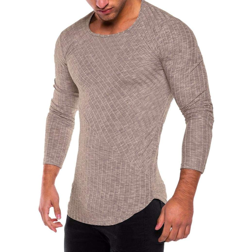 7d26878f PHOTNO Mens T Shirts Tee,Casual Slim Fit Long Sleeve Plain Sport T-Shirt