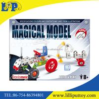 Inteligent diecast toy DIY metal block toy for kids