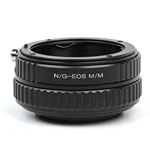 Pixco Lens Adapter For Adjustable Nikon G AF-S AI F Mount Lens to Canon EOS M Adapter