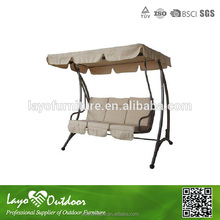 Customized Factory safe and durable swing aluminum patio swing