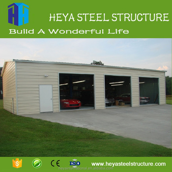 Steel Storage Sheds Drawing Prefabricated Car Showroom Design