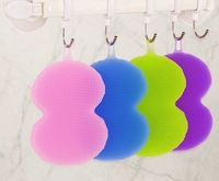 BPA Free Wholesale Bathroom Scrubber Antibacterial Sponge Silicone Dish Wash Brush