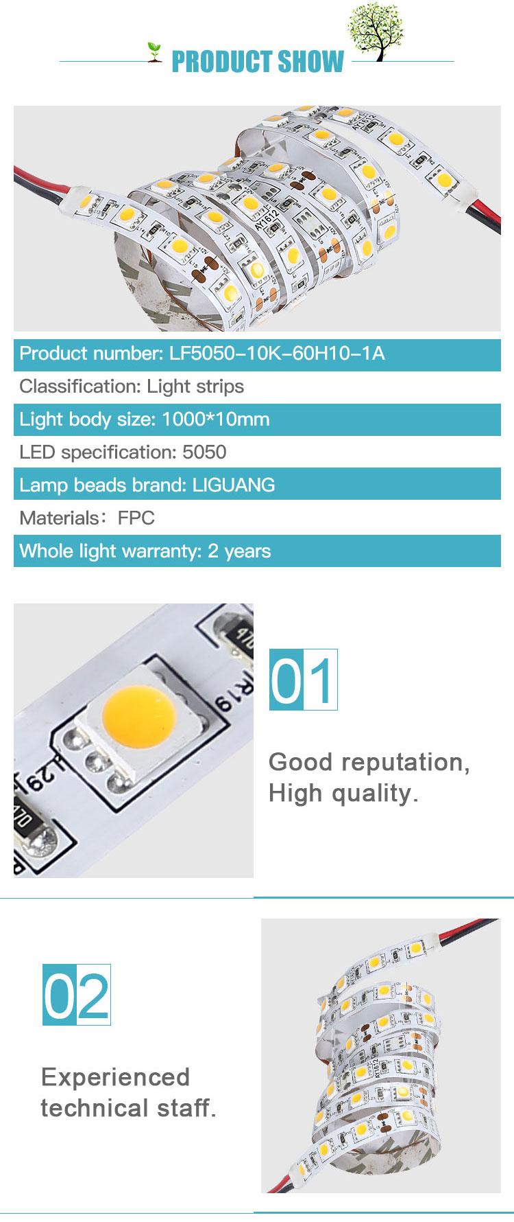 DC12V 24V 60 120 180 LEDs 2835 5050 3030 Flex LED şerit