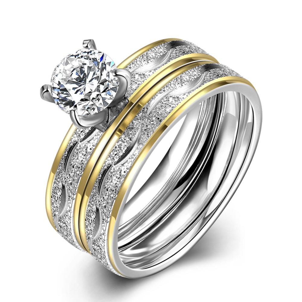 316l Stainless Steel Rings With Diamond, 316l Stainless Steel Rings With  Diamond Suppliers And Manufacturers At Alibaba