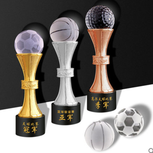Champions league metal trophy cup golf crystal awards sport medals trophies awards