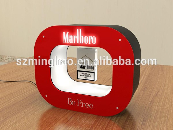 Acrylic magnetic floating cigarette display frame