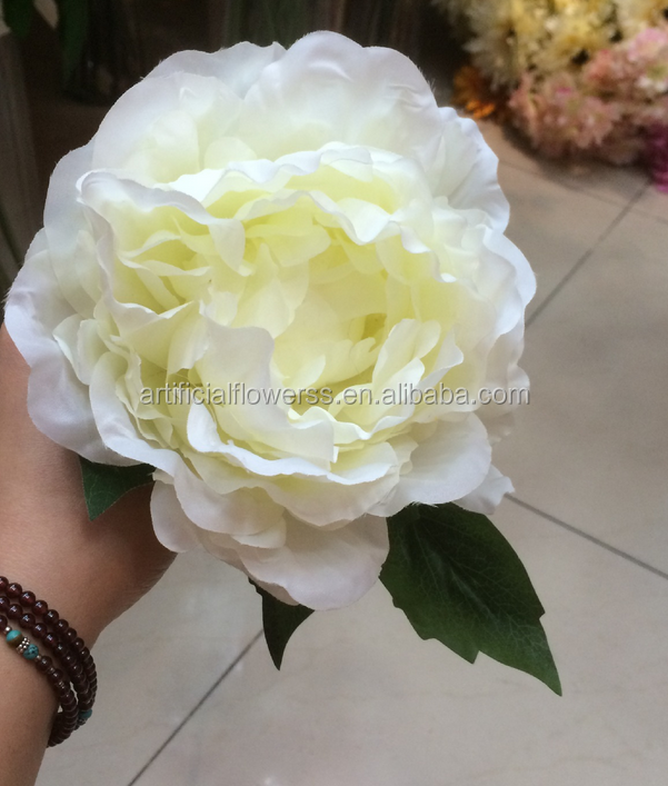 2016 Wholesale artificial light pink peonies flower