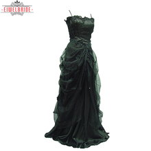Black Spaghetti strap Gowns Evening Dress For Woman