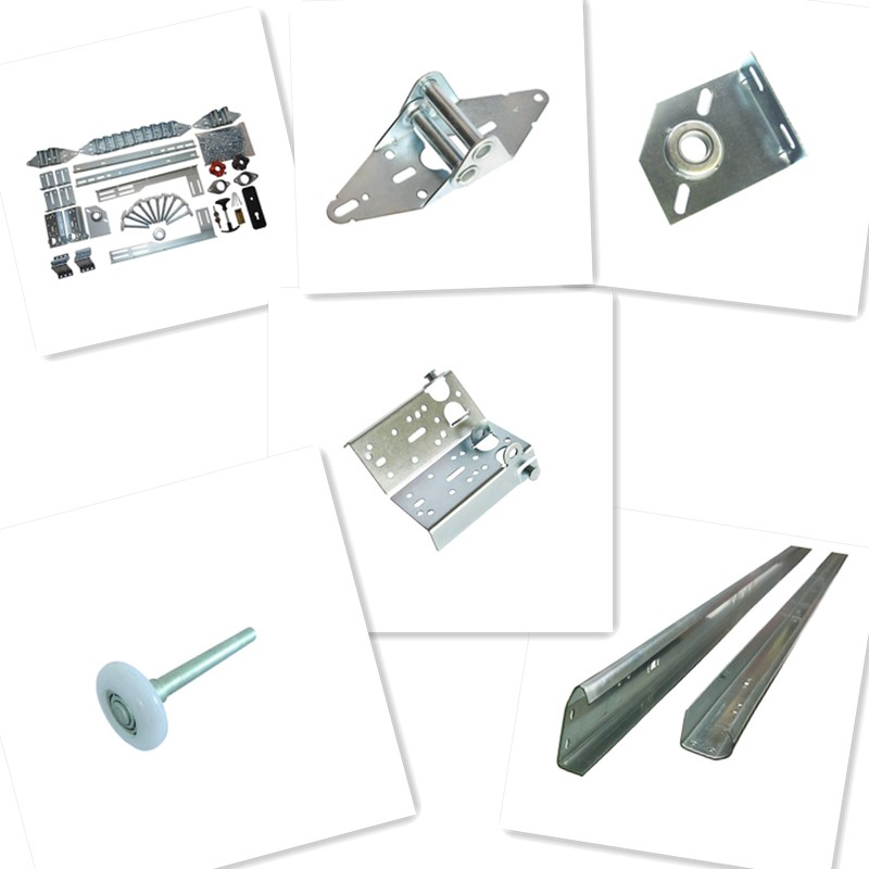 "Sectional garage door hardware track joint angle  22"" or 41"" joint angle galvanized steel bracket"