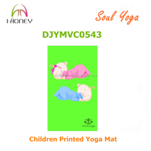 Eco-friendly yoga mat lovely image printed for kids yoga