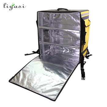 Backpack Food Delivery Cooler Bag With Dividers 3 Parions For Hot Cold