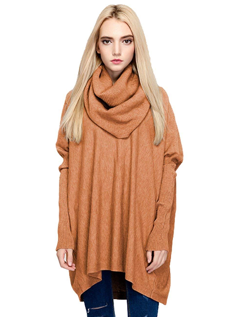 697179949 Cheap Oversized Turtleneck Sweater