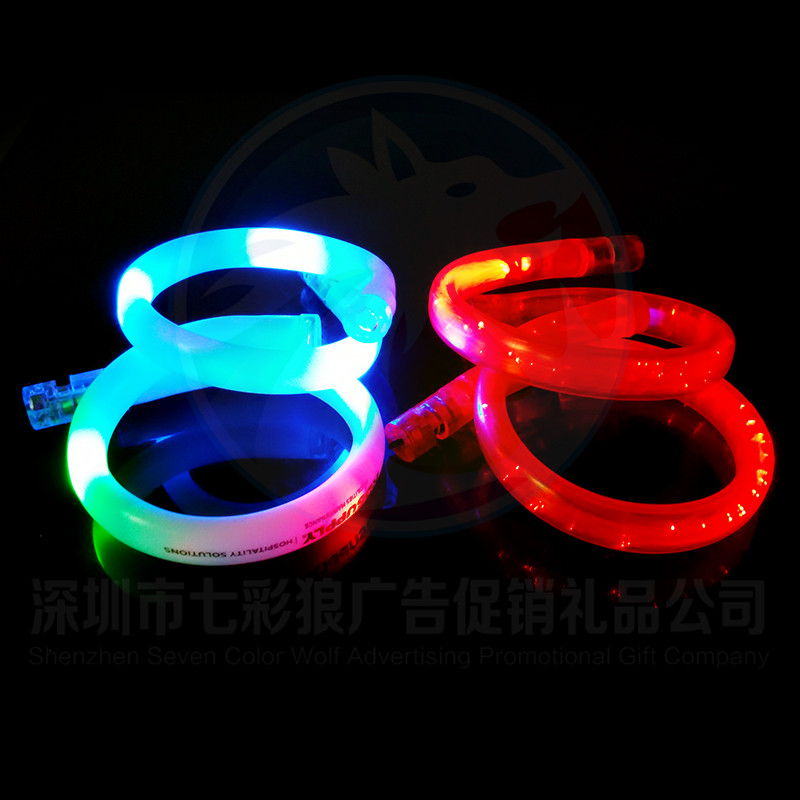 Glow in the Dark Christmas Party LED Flashing Bracelet for Adult China Manufacturer Battery Operated LED Flashing Bracelet