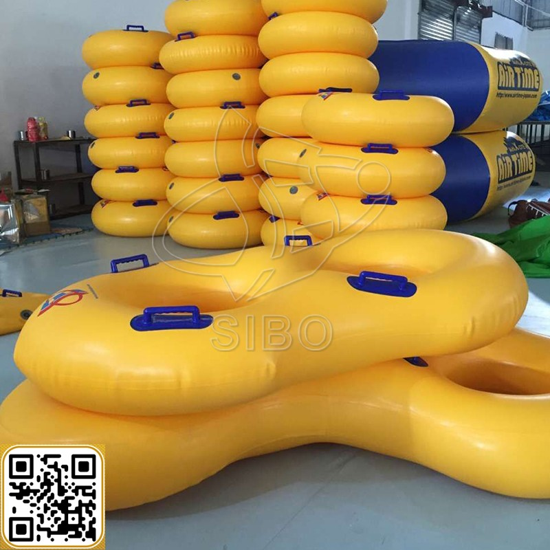 SIBO inflatable water game tube adult swimming rings with 2 handles