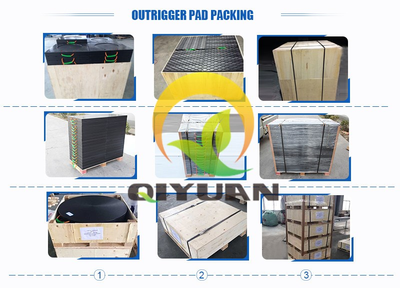 Non slip construction crane pads outrigger pad hdpe plastic jack plate