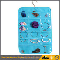 custom jewelry display pvc laminated non woven plastic packaging bags with hook use in supermarket