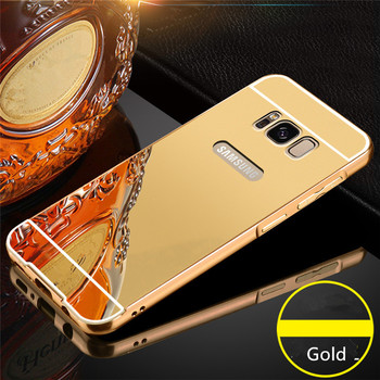 low priced f6bb3 d0a5a Luxury Gold Aluminium Mirror Back Cover Case For Samsung Galaxy S8 Plus -  Buy Luxury Case For Samsung Galaxy S8 Plus,For Samsung S8 Plus Back ...