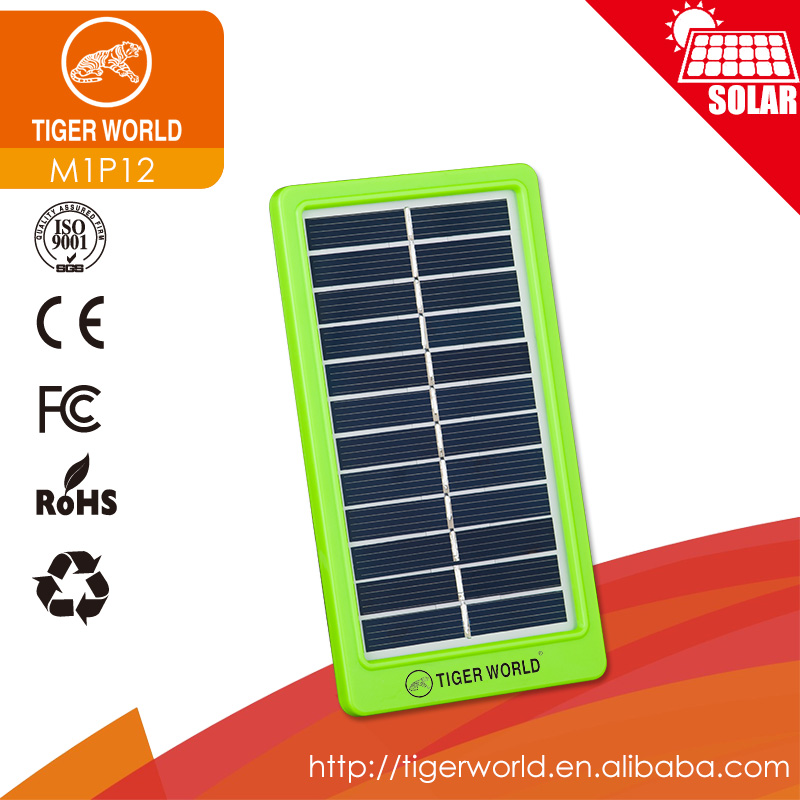 Tiger World 1W 6V mini camping mobile charging Solar Panel