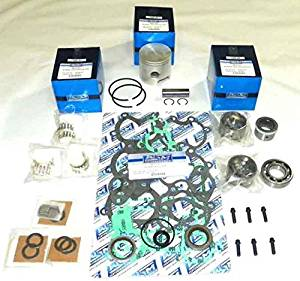 "Mercury 50 & 60 Hp 1984-1990, 70 Hp 1977-1983 3 Cylinder Power Head Rebuild Kit PWC 100-15-10 OEM Piston # 774-8600A 3, 774 9137A 9 9 (STD (2.875""))"