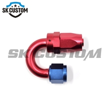 Reusable aluminum 180 degree fuel oil cooler swivel hose fitting AN fitting pipe fitting