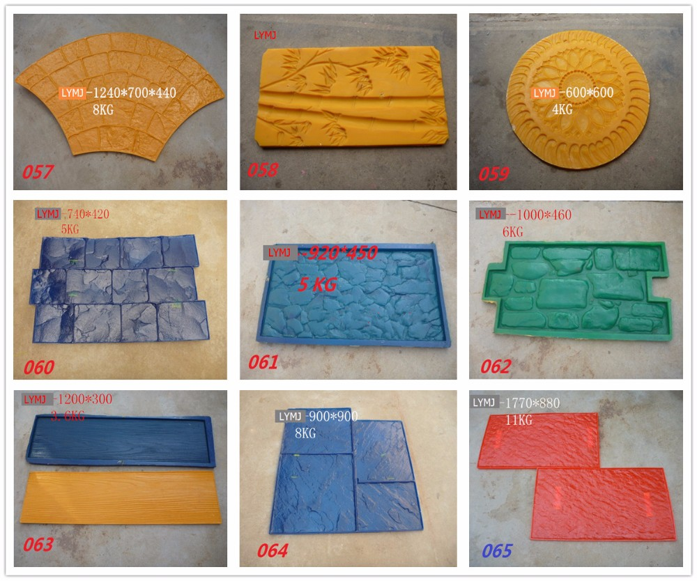 3years Warranty Concrete Stencil Road Floor PU Stamped Molds In Moulds