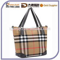 2015 Fashion New Design High Quality Most Popular Canvas And Leather Lady Handbag Tote Shoulder Messenger Bag
