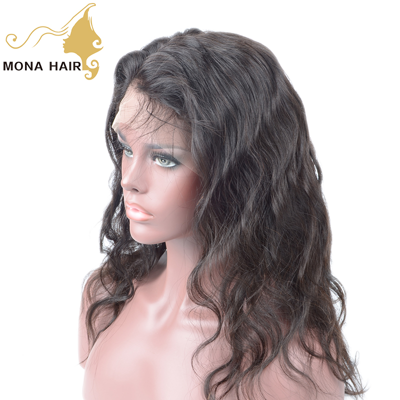 Raw human hair factory price wholesale good quality no tangle body wave brazilian hair full lace wig