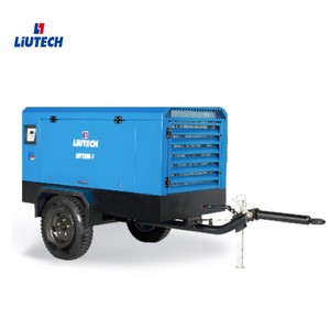 2019hot sale liutech portable screw air compressor with diesel engine powered for rock blasting drilling