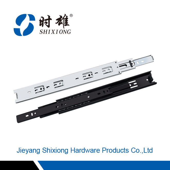 Hot sale 45mm full extension roller bearing drawer slide, high quality telescopic channel