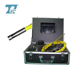 LCD monitor under ground pipe line inspection camera search camera with 6mm stainless steel camera