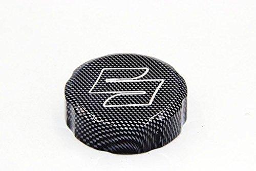 "XKH- Motorcycle Carbon Fiber Billet Aluminum Brake Fluid Reservoir Cap Cover ""S"" Engraved For 1992-2012 Suzuki GSXR 600/1988-2012 Suzuki GSXR 750/2001-2012 Suzuki GSXR 1000"