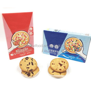 Cranberry/ Blueberry Flavor Pizza Shape HALAL Cookies Biscuits